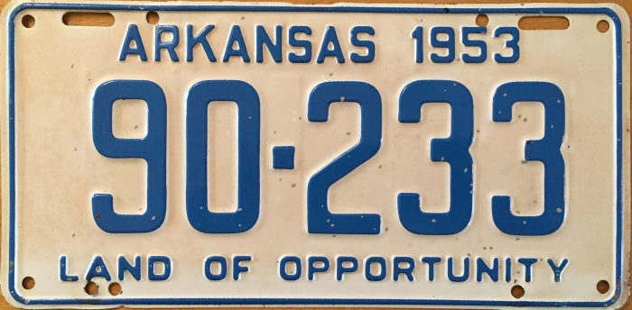 1953_arkansas_license_plate
